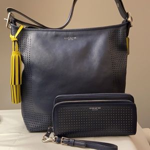 COACH Legacy Perforated Leather Duffle and Wallet